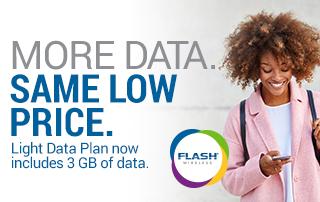 More Data Same Low Price