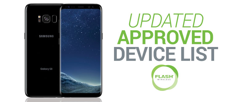 Announcement for Samsung S8 and S8+ on Flash Green   ACN Compass