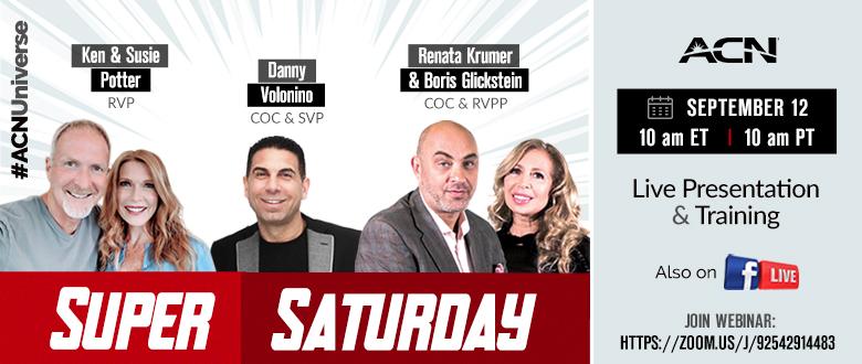 Super Saturday - September 12 - Zoom and Facebook Live