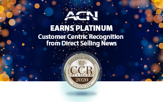 We are proud to announce that ACN is one of only six companies that has been recognized as the top Direct Sales organizations to receive CCR Platinum Recognition from the Direct Selling News.