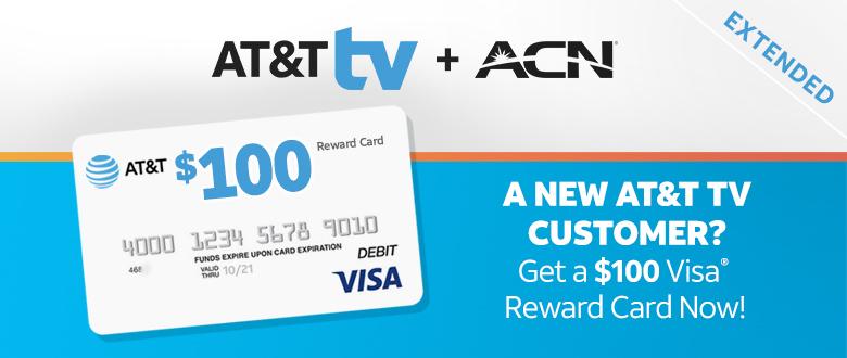 A new AT&T TV customer? Get a $100 Visa reward card now!