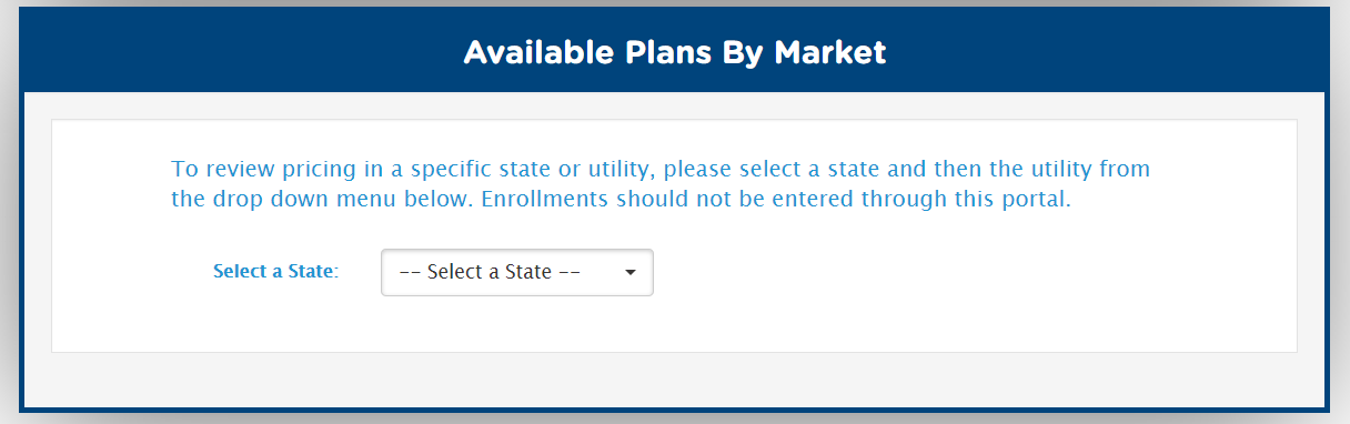 Select the applicable state from the dropdown menu.