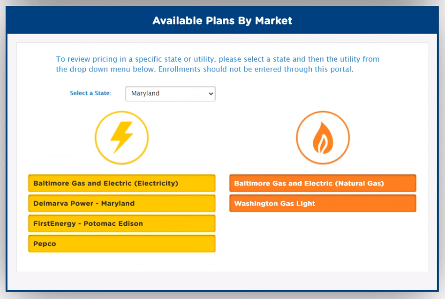 Choose the desired utility from the displayed listing.