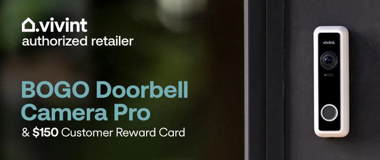 BOGO Doorbell Camera Pro and $150 Customer Reward Card